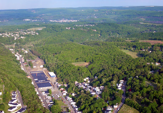 aerial view of Pottsville
